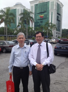 Sinclair Wong (left) with me at JAIS offices.
